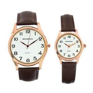 """Часы наручные, """"Филис"""", парный набор для нее и для него, коричневый   4407071"""