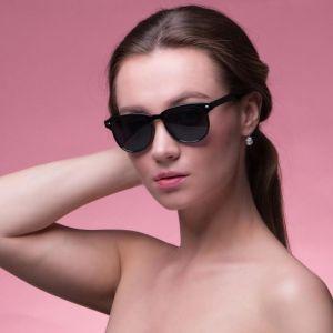 """Очки солнцезащитные """"Мастер К."""", uv 400, 14.5х14х4.7 см, линза 4.2х4.7 см, чёрные   4703639"""