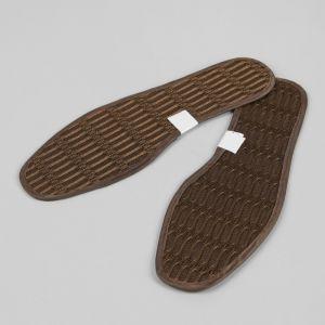 Стельки для обуви, окантовка, 39 р-р, пара, цвет коричневый