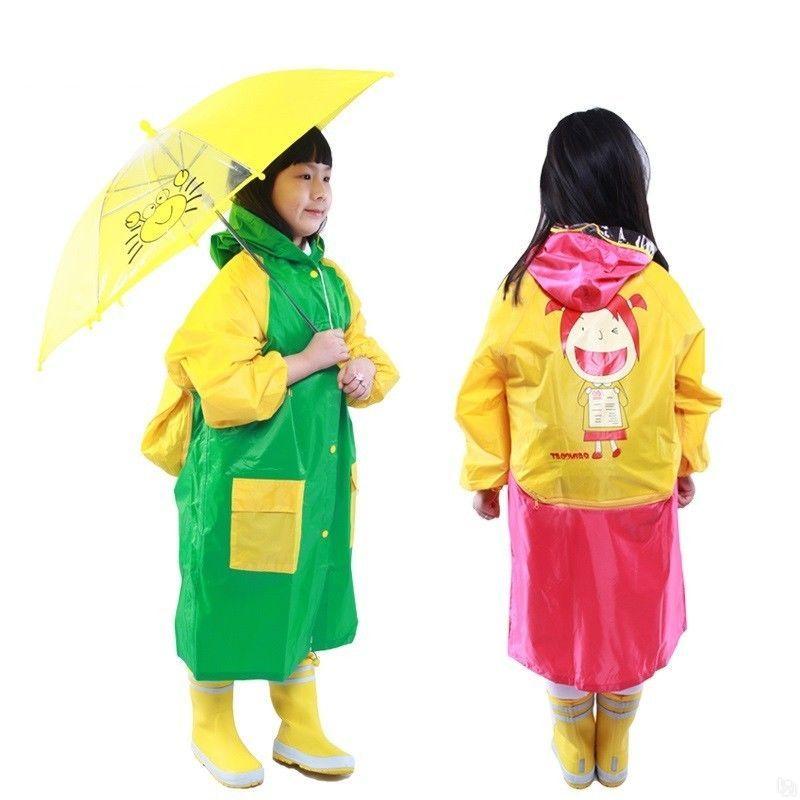 Плащ-дождевик для детей с отделением для рюкзака виниловый