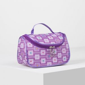 Косметичка-сумка, отдел на молнии, зеркало, цвет сиреневый