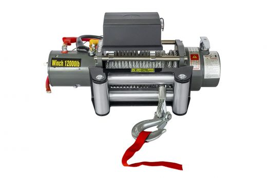 Лебёдка электрическая 12V Electric Winch 12000 lbs 5443 кг (син. трос 22 м)