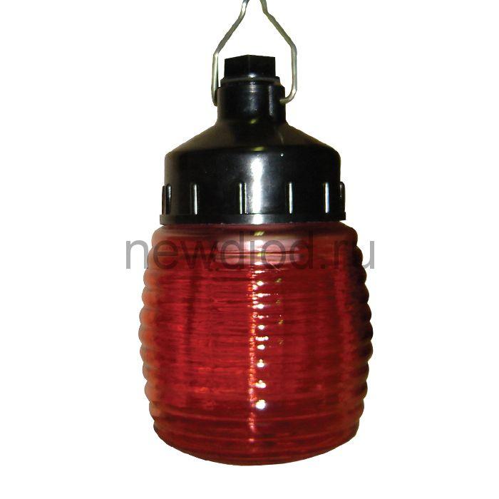 """Сигнальный специальный светильник """"Бочонок"""" 120 НСП 03-60-001 IP53 красный /корпус карболит ГУ"""