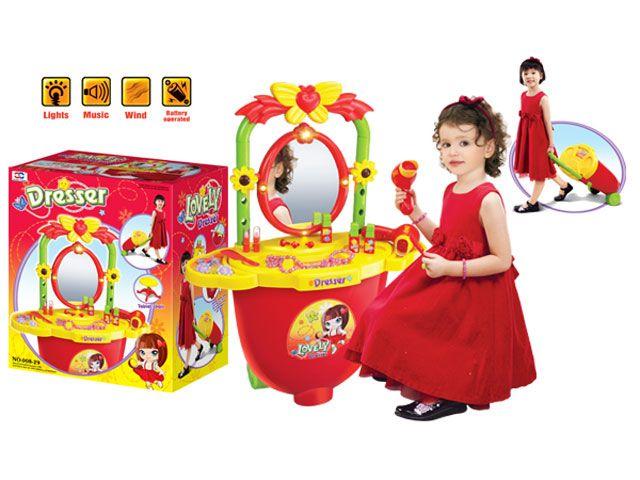 Детское трюмо туалетный столик  в чемодане (008-29)