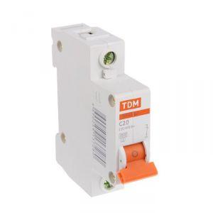 Выключатель автоматический TDM ВА47-63, 1п, 20 А, 4.5 кА 1890628