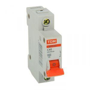 Выключатель автоматический TDM ВА47-63, 1п, 40 А, 4.5 кА 2114158