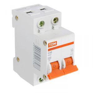 Выключатель автоматический TDM ВА47-63, 2п, 40 А, 4.5 кА 1890625