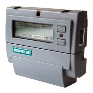 """Счетчик """"Меркурий"""" 200.02, однофазный, многотарифный,  5-60 А, крепление на DIN-рейку 2186901"""