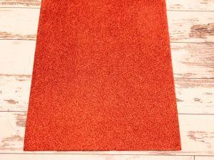 """`Фоамиран """"глиттерный"""" Китай, толщина 2 мм, размер 20x30 см, цвет красный"""