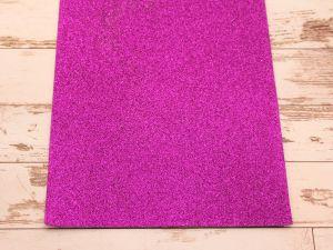 """`Фоамиран """"глиттерный"""" Китай, толщина 2 мм, размер 20x30 см, цвет фиолетовый"""