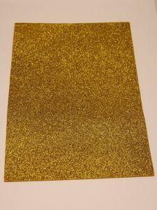 """`Фоамиран """"глиттерный"""" Китай, толщина 2 мм, размер 20x30 см, цвет золото ацтеков"""