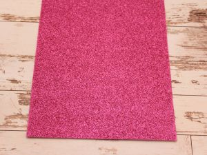 """Фоамиран """"глиттерный"""" Китай, толщина 2 мм, размер 20x30 см, цвет № Ф001 ярко-розовый (1 уп = 10 листов)"""