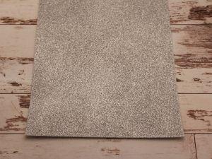 """Фоамиран """"глиттерный"""" Китай, толщина 2 мм, размер 20x30 см, цвет серебро (1 уп = 10 листов)"""