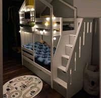 Кровать двухъярусная Домик Roof №30 с лестницей