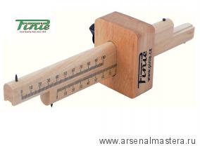 Рейсмус деревянный с двумя фиксаторами 210х65х75 мм PINIE 41-3