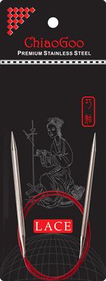 СПИЦЫ КРУГОВЫЕ CHIAOGOO SS RED LACE (40 СМ)