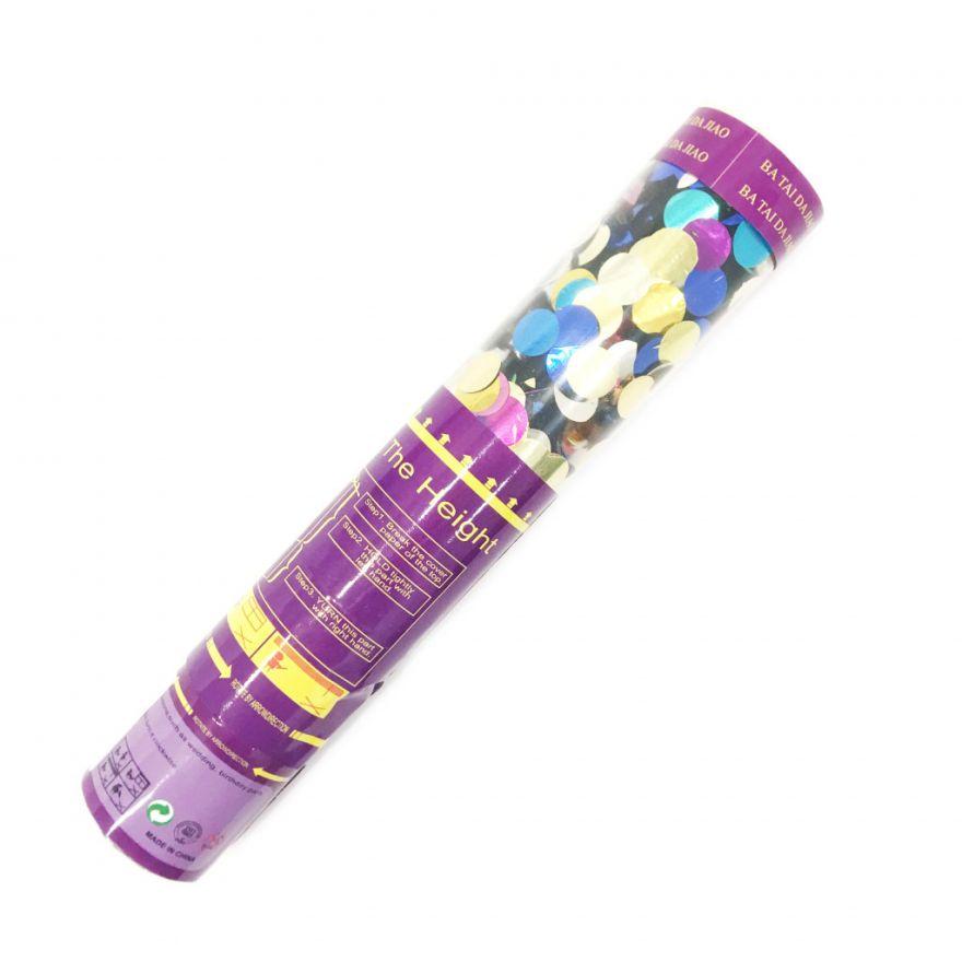 Хлопушка Разноцветное блестящее конфетти