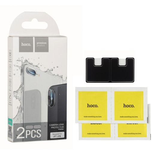 Защитное закаленное стекло Hoco для камеры iPhone 7 Plus/8 Plus (2шт) (V11) прозрачное