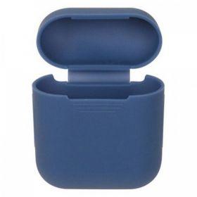 Чехол на airpods силиконовый (синий)