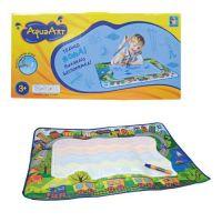 1toy AquaArt Разноцветный коврик для рисования с водным маркером, зелёный для мальчиков