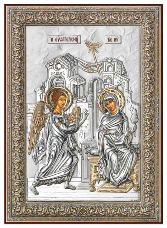 Серебряная икона Благовещение (Италия)