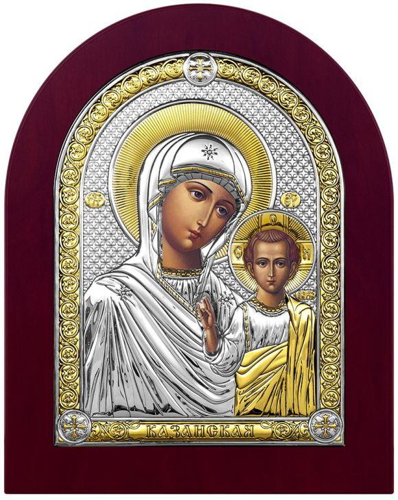 Серебряная икона Казанская Божия Матерь (Италия)