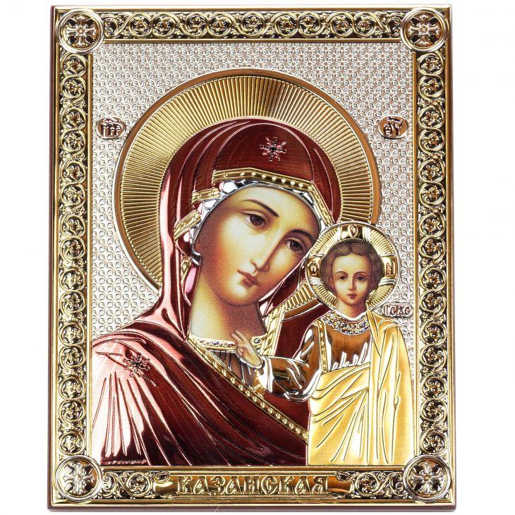 Серебряная Казанская икона Божией Матери (Италия)