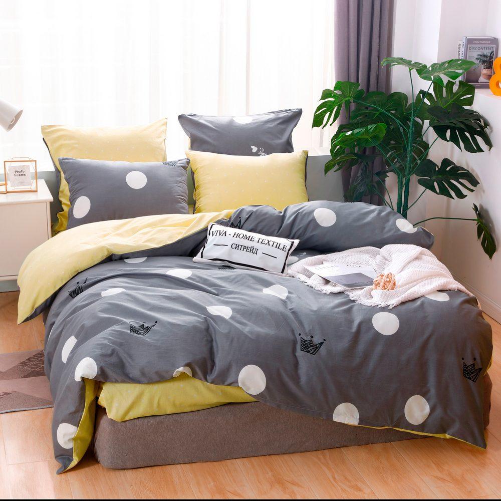Комплект постельного белья Делюкс  Евро  Сатин L213