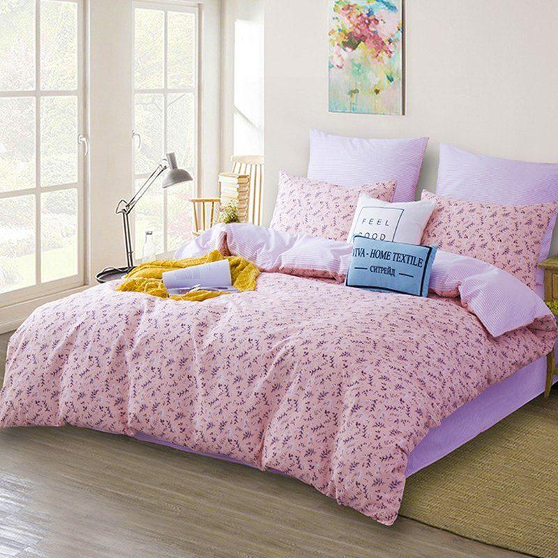 Комплект постельного белья Делюкс 2 спальный Сатин L171