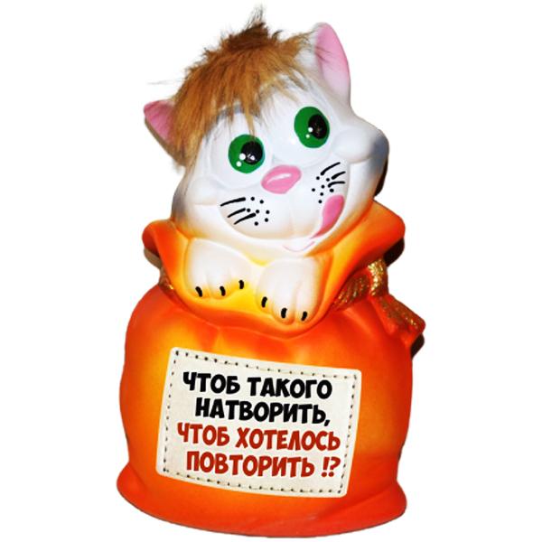 Копилка Кот в Мешке «Натворить»