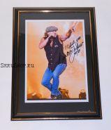 Автограф: Брайан Джонсон. AC/DC