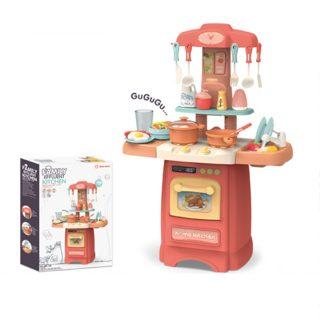 Игровой набор Кухня, в компл. 29 предм., свет, звук, эл.пит.АА*6шт. в компл.не вх., кор.