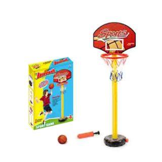 Набор напольный баскетбол, стойка высота 135 см, щит, мяч, насос, коробка