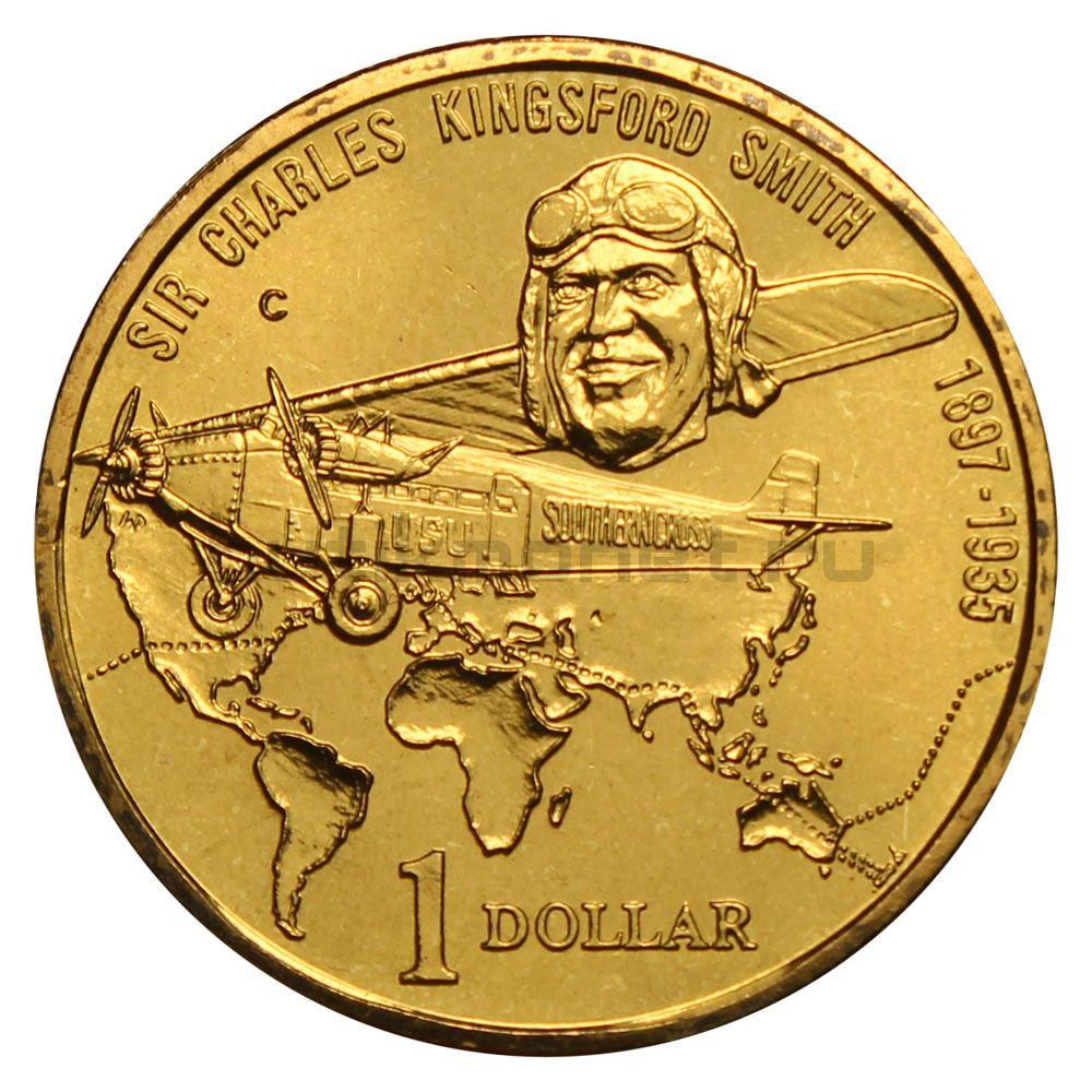 1 доллар 1997 Австралия 100 лет со дня рождения Чарльза Кингсфорда Смита
