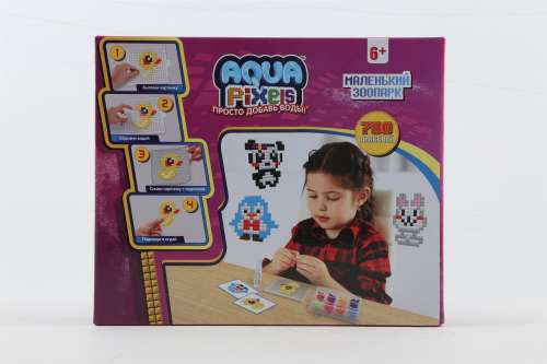 """1toy Aqua Pixels, квадратные детали, """"Маленький зоопарк"""""""