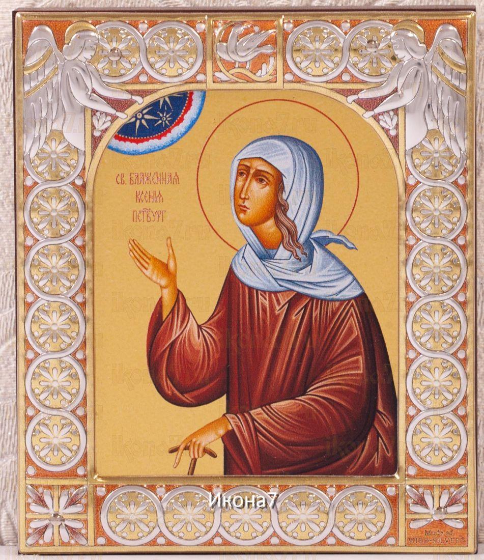Икона Ксения Петербургская (9х10,5см)