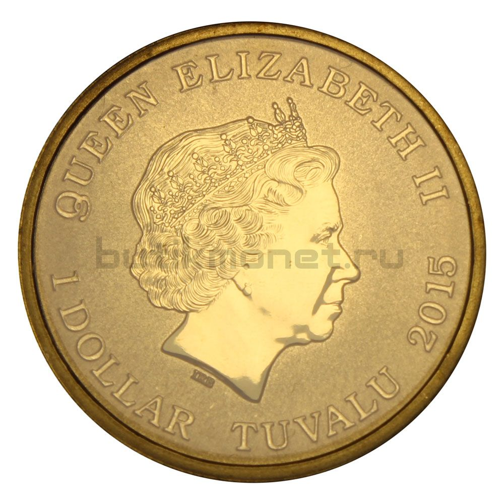 1 доллар 2015 Тувалу Котята