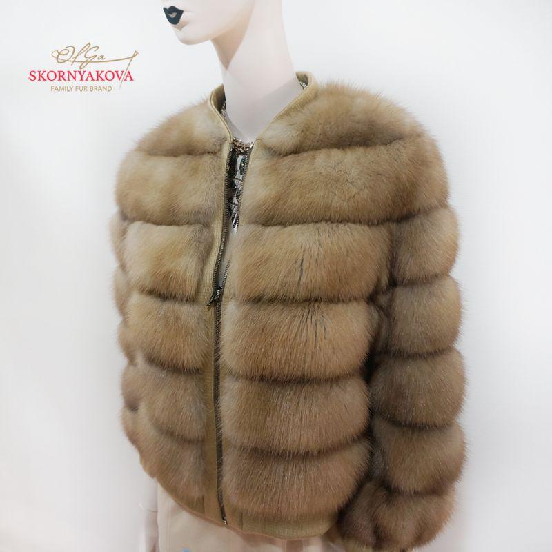 Куртка - бомбер из куницы