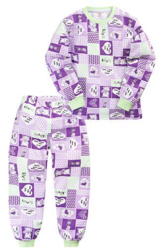 Пижама c начесом для девочки 2-5 лет Sladikmladik SM1098