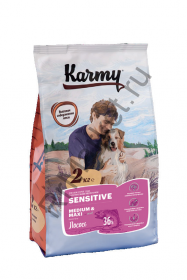 Karmy Sensitive Medium and Maxi для собак - лосось