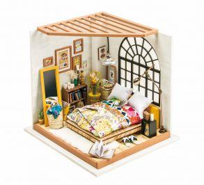 Набор для создания интерьера в миниатюре(Румбокс) «Милая спальня» 203x184x187.