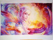 "Digital cross stitch pattern ""Daenerys""."