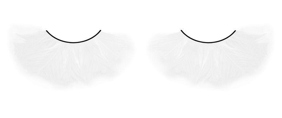 Перьевые белые ресницы