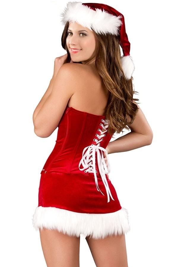 Рождественский корсетный костюм