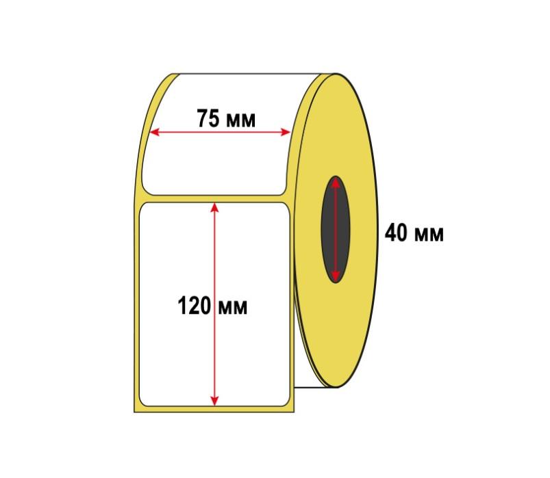Термоэтикетка 75х120 мм (250 шт/рул) ЭКО для OZON