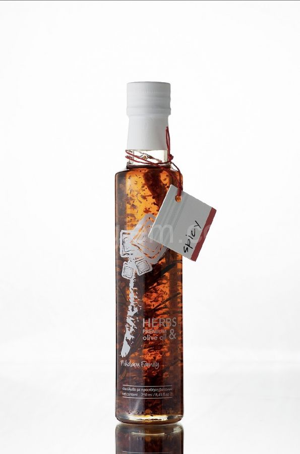 "Настоящее оливковое масло с перцем Extra Virgin ""Nikolaou Family"" Spicy 250 мл"