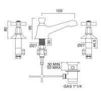 Sbordoni Deco смеситель для раковины DE142CR