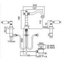 Sbordoni Livia смеситель для раковины LI142clBOL
