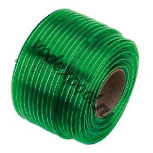 Шланг прозрачный зеленый  8х1,5 мм x 1 м (в бухте 80 м)