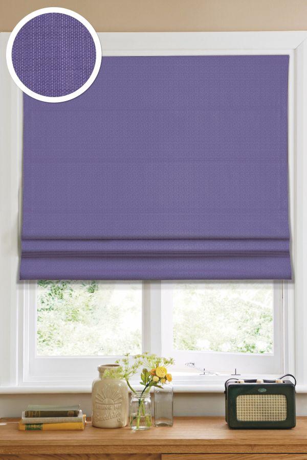 Римская штора Эскар однотонная 140*160, фиолетовый